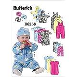 Simplicity Sewing Pattern 3711 Babies Layette Body Suit Pants Robe Size XXS-L UC