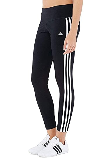 Amazon.com   Adidas Womens Essential 3 Stripe Tight S21020 (Large ... 22b5c9e6a3ba