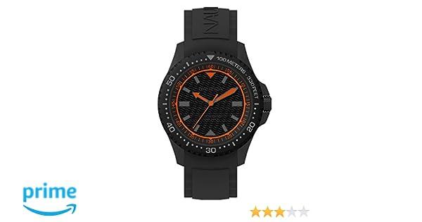 Nautica Reloj Analógico para Hombre de Cuarzo con Correa en Silicona NAPMAU008: Amazon.es: Relojes
