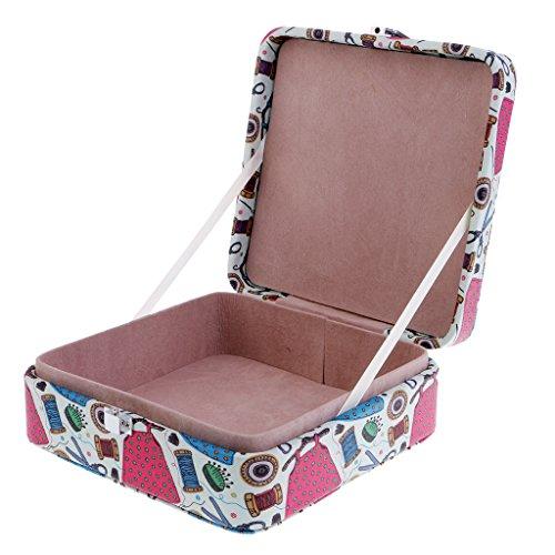 Baoblaze 18x18x7cm Handmade Sewing Storage Box Organizer for DIY Sewing Mending Craft - 1# by Baoblaze