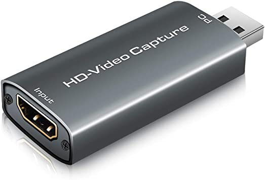 Todo para el streamer: Sense Hometek Capturadora de Video, Capturadora Video HDMI, HDMI To USB 2.0 Audio de Vídeo Game Capture, 1080P HDMI Convertidor Video Audio, para Edite Video/Juego/Transmisión/Enseñanza en Línea