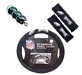 nfl eagles car seat covers - Official National Football League Fan Shop Authentic Auto Accessories Bundle (Philadelphia Eagles)
