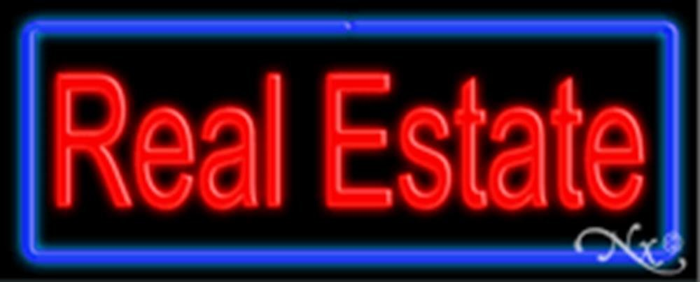 13x32x3 inches Real Estate NEON Advertising Window Sign