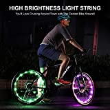Upgraded 2-Pack Waterproof Color Changing LED Bike