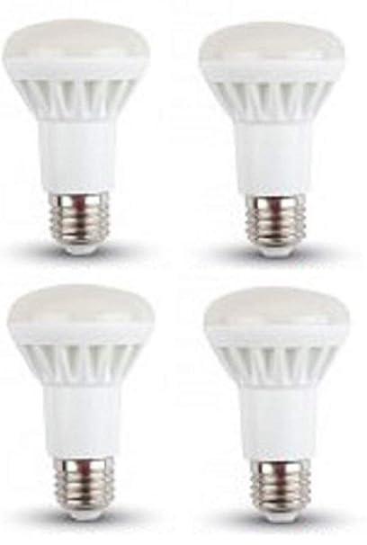 LED R63 Reflector bombillas – paquete de 4 – E27/rosca Edison – 8 W