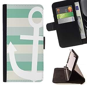 Momo Phone Case / Flip Funda de Cuero Case Cover - Barco de Verano Sun Sailing Líneas - Samsung Galaxy S5 V SM-G900