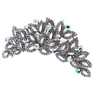 Brautschmuck haare kamm  Acosta Jewellery – Swarovski Kristall Blatt Diadem – Brautschmuck ...