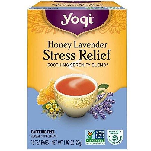 Yogi Tea Herbal Stress Relief, Honey Lavender 16 ea ( pack of 2)
