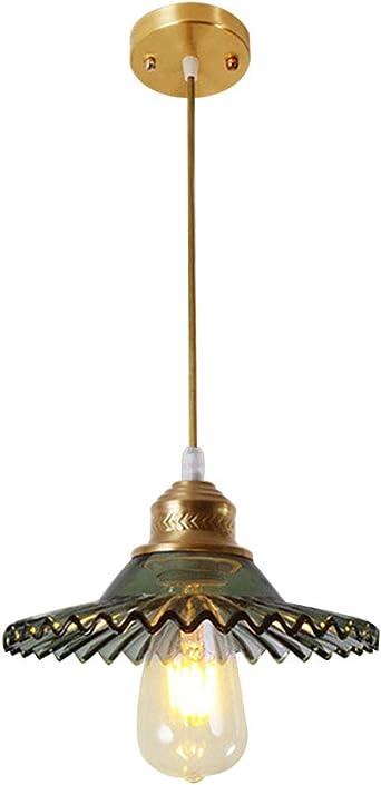 E27 Lampe Suspension Lustre Cage en Verre Abat-jour avec Douille Eclairage de Plafond Style Industrielle Vintage Retro
