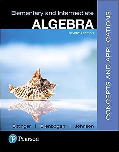 Elementary And Intermediate Algebra Bittinger Pdf