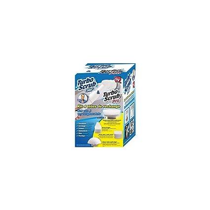BestofTv clean10 recambios Turbo Scrub con Turbo Scrub 360, color blanco