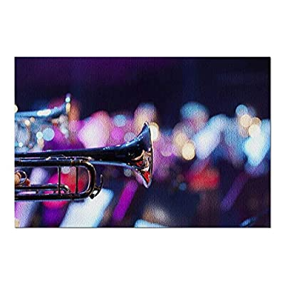 Close Up Detail of Trumpets in a Show Band 9015270 (Premium 1000 Piece Jigsaw Puzzle for Adults, 20x30, Made in USA!): Toys & Games