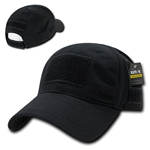 Rapid Dominance Soft Crown Tactical Operator Cotton Cap With Loop Patch - Black