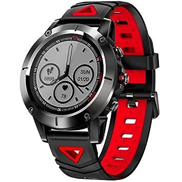 CITW GPS Smart Watch Hombres IP68 Impermeable Presión Arterial Bluetooth Reloj Deportivo Reloj Ritmo Cardíaco Smartwatch para Android iOS,Red: Amazon.es: ...