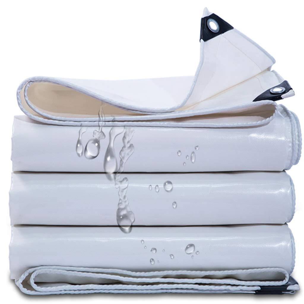 軽いターポリン、防水ダブルレイヤー高密度ポリエチレン織物簡単にポータブル防腐防酸化ソフトトラックキャノピーテントキャンプ弾性タンポリンホワイト350g /平方メートル (サイズ さいず : 4x4m) 4x4m  B07PB3PWX4