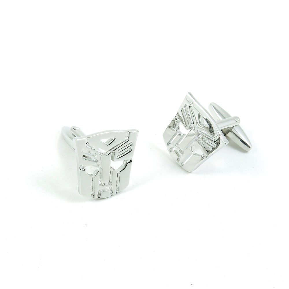 50 Pairs Cufflinks Cuff Links Fashion Mens Boys Jewelry Wedding Party Favors Gift QPY077 Silver Autobots Logo