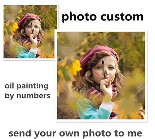(Photo Custom Make Your Own Diy Digital Oil Painting By Numbers Picture Drawing On Canvas Portrait Wedding Family Photos)