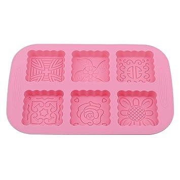 Molde cuadrado de silicona para hornear, de Shimian, para tartas, jabones, galletas, festivales de otoño, tarta de luna: Amazon.es: Hogar