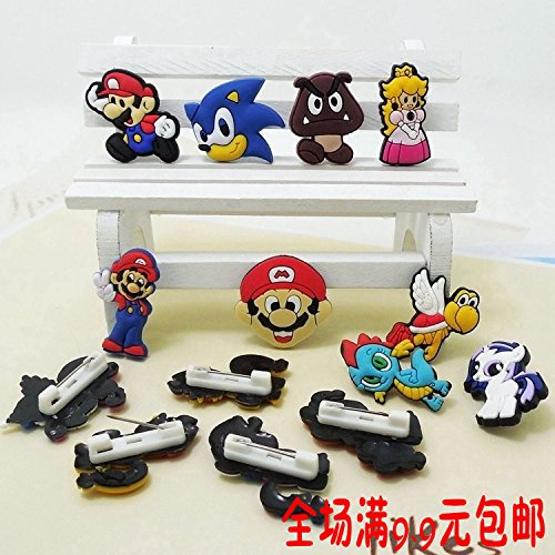 Pin To Foal - Foal lovely corsage brooch accessories Mario array collar pin badge Ja and South Korea cartoon safety pins