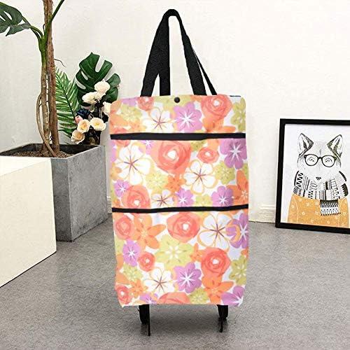borsa per la spesa riutilizzabile con cinghie per luso quotidiano Rosa Icecode Carrello per la spesa pieghevole con ruote
