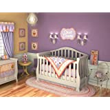 DK Leigh Crib Nursery Bedding Set, Distinctive Cupcake Baby, 10 Piece