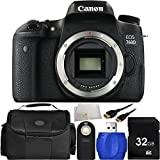 Canon EOS 760D DSLR Camera (Body Only) 32GB Bundle 6PC Accessory Kit,. Includes 32GB Memory Card + High Speed Memory Card Reader + Wireless Remote + Mini HDMI Cable + Carrying Case + Microfiber Cleaning Cloth - International Version (No Warranty)