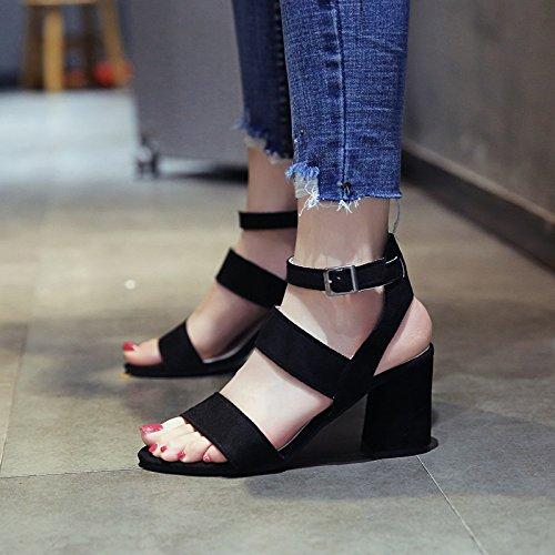 toe alta temperamento sandali con tacco lady elegante toe partito estate Moda a scarpe YMFIE qUZAvv