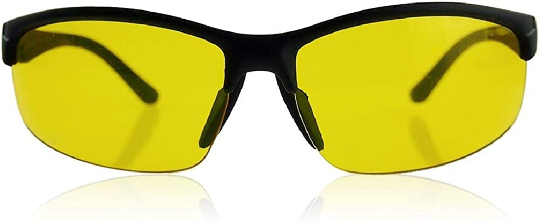 Safety Glasses Clarity Lenses Anti-Glare HD Night Vision TAC Polarized Boolavard Night Driving Glasses