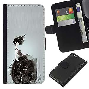 For Apple Iphone 5C Case , Wheelchair Deep Dark Meaning - la tarjeta de Crédito Slots PU Funda de cuero Monedero caso cubierta de piel