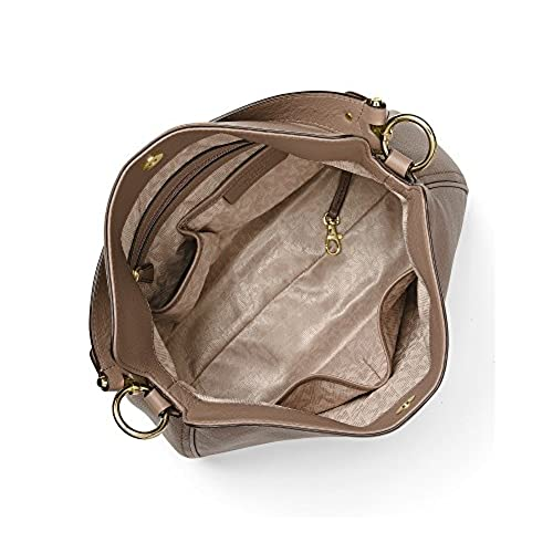 5e2b7747bc MICHAEL Michael Kors Heidi Medium Leather Shoulder Bag (Dark Dune) good
