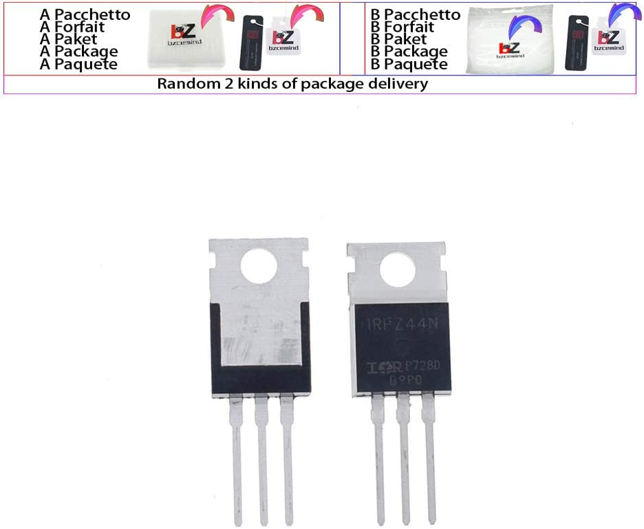 Basage 10pcs IRFZ44N IRFZ44 Power Transistor MOSFET N-Channel 49A amp 55V