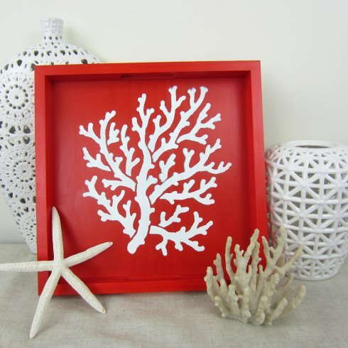 CUTTING EDGE STENCILS Coral Stencil - Small - Easy stencil for nautical sea shore decor by Cutting Edge Stencils