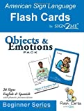 Sign2Me ASL Flash Cards - Objects and Emotions, Sign2Me Early Learning, 1932354085