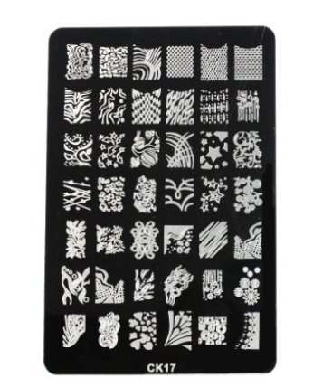 DragonPad Large Nail Art Polish Manicure Stamping Image Plate Template DIY Decoration CK-17