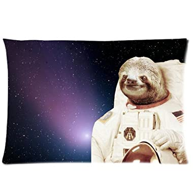 Nymeria 19 Sloth Astronaut Rectangle Pillowcase Pillow Case Covers 20X30 (One Side) GA-410