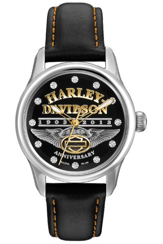 Harley-Davidson Women's Bulova 110th Anniversary Watch. 76L164