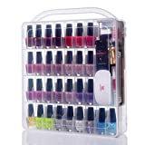 Makartt Large Nail Polish Organizer Storage Holder Case - Stores 60 Bottles with Large Compartment for Tools N-03