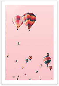 Humble Chic Wall Art Prints - Unframed HD Printed Travel Picture Poster Decorations for Home Decor Living Dining Bedroom Bathroom College Dorm Room - Hot Air Balloons Sky, 24x36 Vertical
