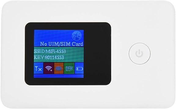 Router Portátil WiFi,4G WiFi Enrutador Mini Mobile Hotspot Portable 4G LTE Router Tarjeta SIM/USB 2.0, hasta 10 usuarios 150Mbps-2.4G