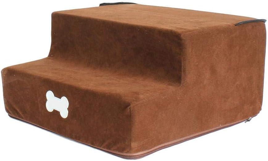Extra/íble Desmontable para Cumplir con Los Diferentes Requisitos De Altura De Los Perros Franela De 3 Capas Escalera para Perros para Lavar Escaleras HJUI Escalera para Mascotas