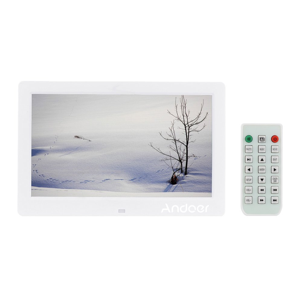 Amazon andoer 101 hd digital photo picture frame wide amazon andoer 101 hd digital photo picture frame wide screen high resolution alarm clock mp3 mp4 movie player with remote control christmas gift jeuxipadfo Image collections