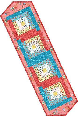 Meg Hawkey Back Porch Celebration Log Cabin Table Runner Pod Quilt Kit Maywood Studio