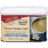 General Foods International Sugar Free French Vanilla Cafe Coffee Drink Mix, 4.4-Ounce Tin (Pack of 6)