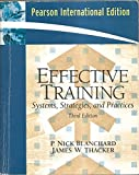 img - for Effective Training: Systems, Strategies, and Practices (3rd International Editio book / textbook / text book