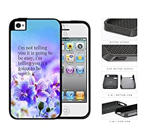 It's Worth It Purple Garden 2-Piece Dual Layer High Impact Rubber Silicone Cell Phone Case Apple iPhone 4 4s