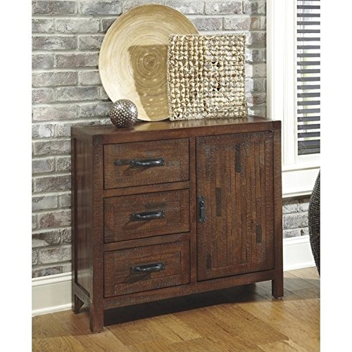 Ashley Furniture Signature Design - Vennilux Accent Cabinet - 3 Drawers - Rustic - Brown Accent Chest