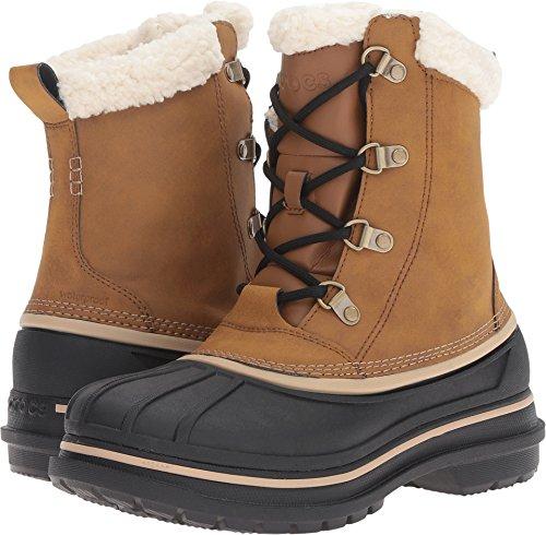 crocs Men's AllCast II Snow Boot, Wheat/Black, 10 M US (Crocs Boot For Snow)