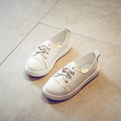 Prevently Kinder Jungen und Mädchen Strass Weiße Schuhe Schuhe ...