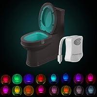 Powerole Toilet Bewegingssensor Licht, 16 Kleuren Veranderende Sensor LED Washroom Nachtlampje Binnen Toliet Lamp, PIR…