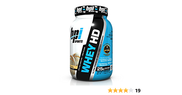 Bpi Sports Whey-Hd, 770 g, Pack de 1